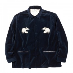 "RADIALL L/Sシャツ ""SWEET EXORCIST OPEN COLLARED SHIRT L/S"" (Navy)"