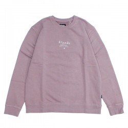 "AFENDS クルースウェット ""STATIC TO VIOLENT CREW SWEAT"" (Smokey Pink)"